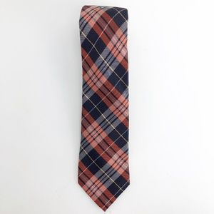 Ben Sherman Narrow Tie Orange Blue Strip 59 X 2.75